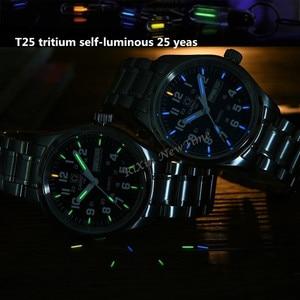 Image 4 - Double calendar Date T25 Tritium Luminous Quartz military watch waterproof 200M Sapphire Brand Watches Mens full steel relojes
