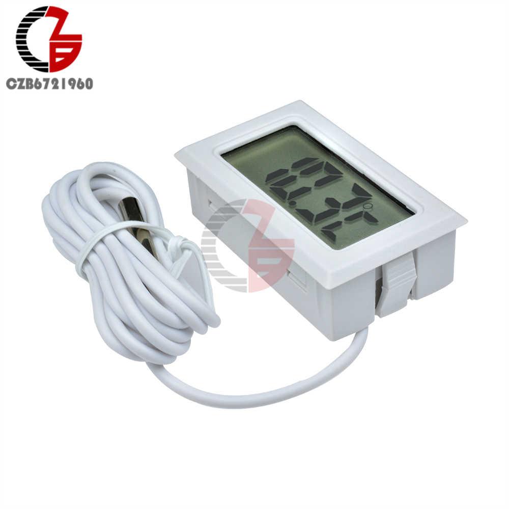 1 3 5 metros sonda del sensor termómetro Digital LCD coche frigorífico congelador temperatura del Acuario de Monitor de