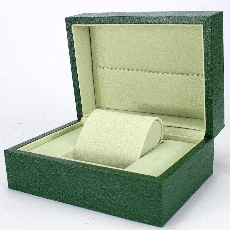 2018 boîte de montre vert en bois Table boîte bijoux cadeau boîte de rangement organisé caixa para relogio rectangle montre stockage affichage