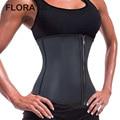 FLORATA Hot Moda Trainer Cintura Underbust Corset Shaper Do Corpo de Látex De Borracha Zipper Slimming Cincher