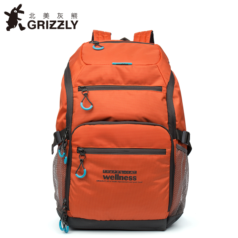 где купить GRIZZLY 2017 NEW Fashion Men Backpack Waterproof Large Capacity School Bags for Teenager Boys Casual Mochila Travel Bag по лучшей цене
