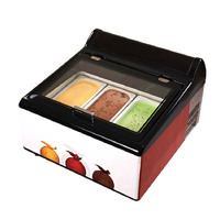 Jamielin Commercial Ice Cream Dessert Gelato Ice Cream Freezer Showcase Ice Cream Freezer Display Cabinet