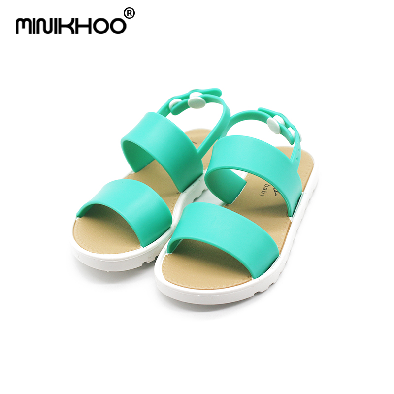 Mini Melissa Breathable Girls Sandals 2018 Summer New Girls Sandals Children Shoes Melissa Girl Beach Sandals High Quality