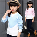 Kids Christmas Sweaters Patchwork Sweater Girl 2016 New Fashion Children Long Sleeve Knitting Warm Clothing Kids Wool Sweaters