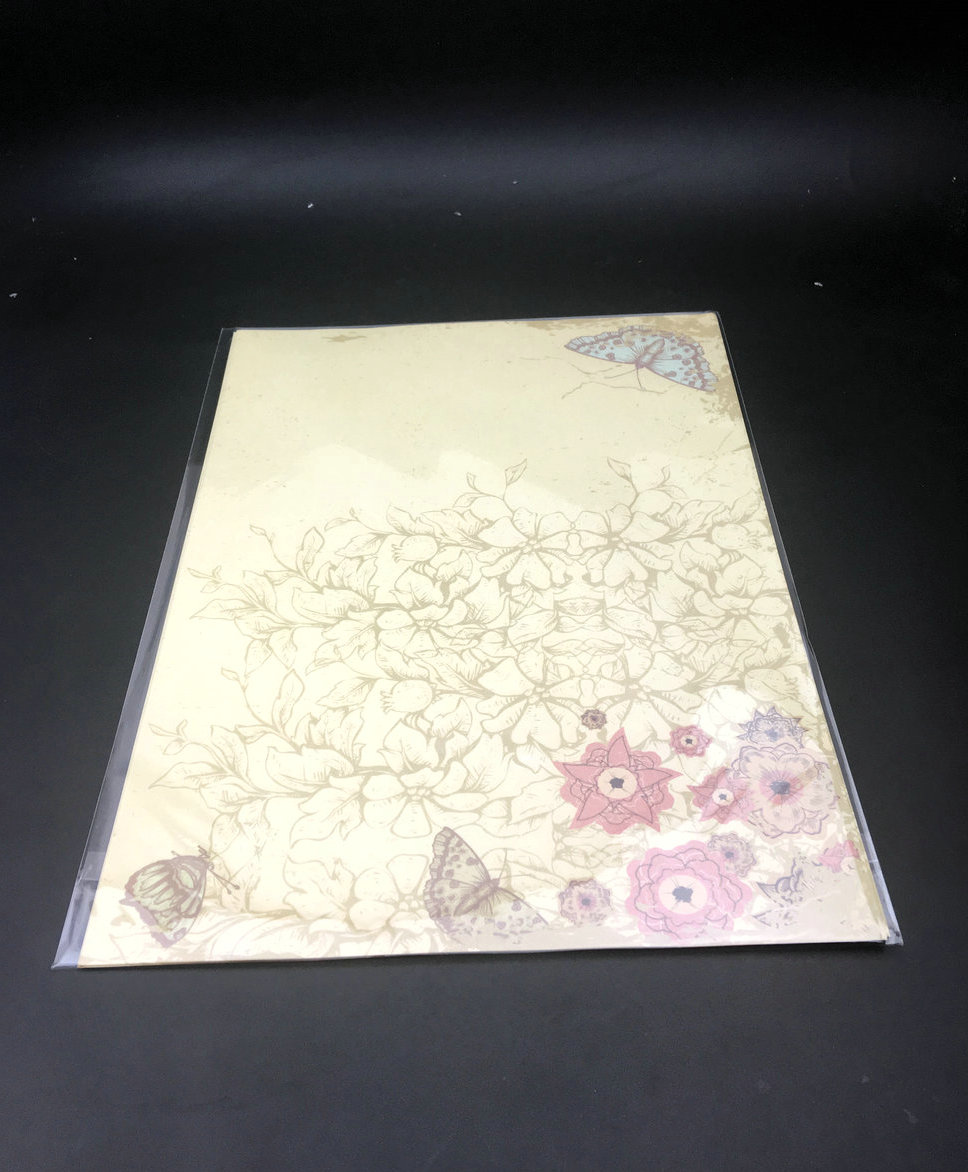 100 Sheets Beautiful Flower Vintage Pattern Letter Pad Writing Paper