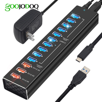 USB Hub Charger 13 Ports USB 3.0 / USB C Hub 12 Ports Multi Splitter 5V 2.4A Fast Charger EU/US Power Adapter for Macbook Pro PC
