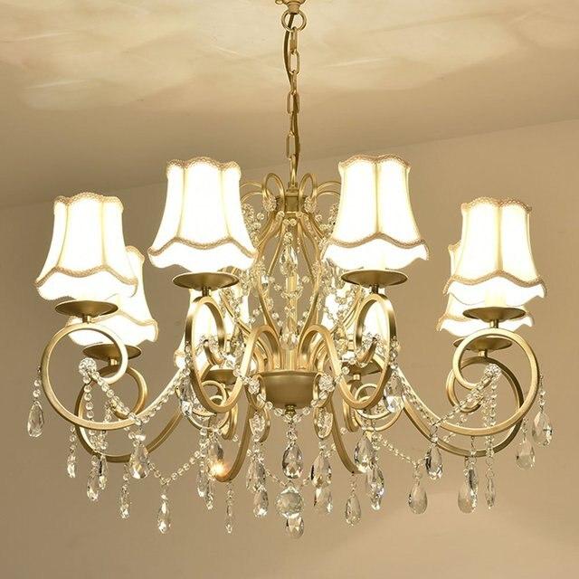 European Crystal Living Room Chandeliers Luxury Romantic Bedroom ...