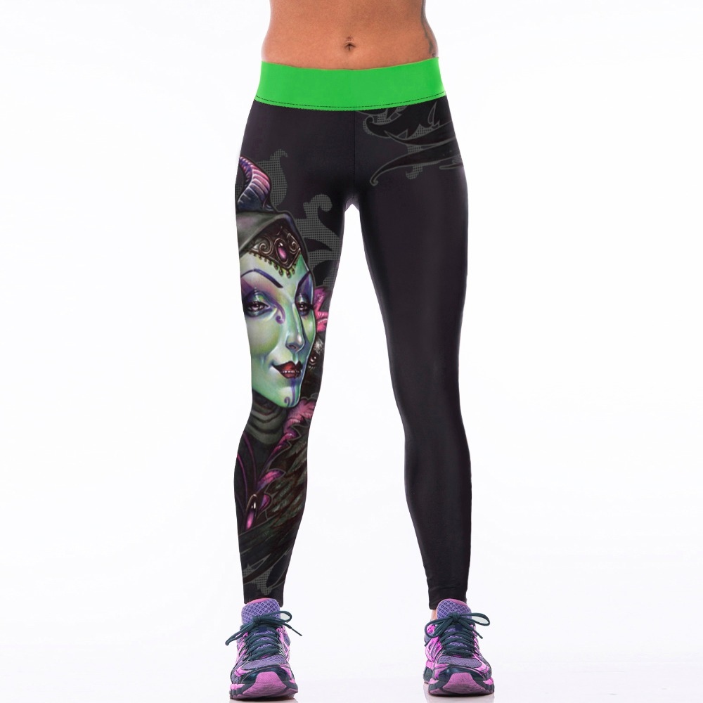 New 009 Sexy Girl Jogging Leggings Comics Witch Cavel witchcraft Prints High Waist font b Running