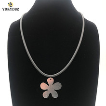 YD&YDBZ New Flower Pendant Necklaces Womens Statement Necklace Spring Summer Dress Accessories Handmade Rubber Chians Jewellery