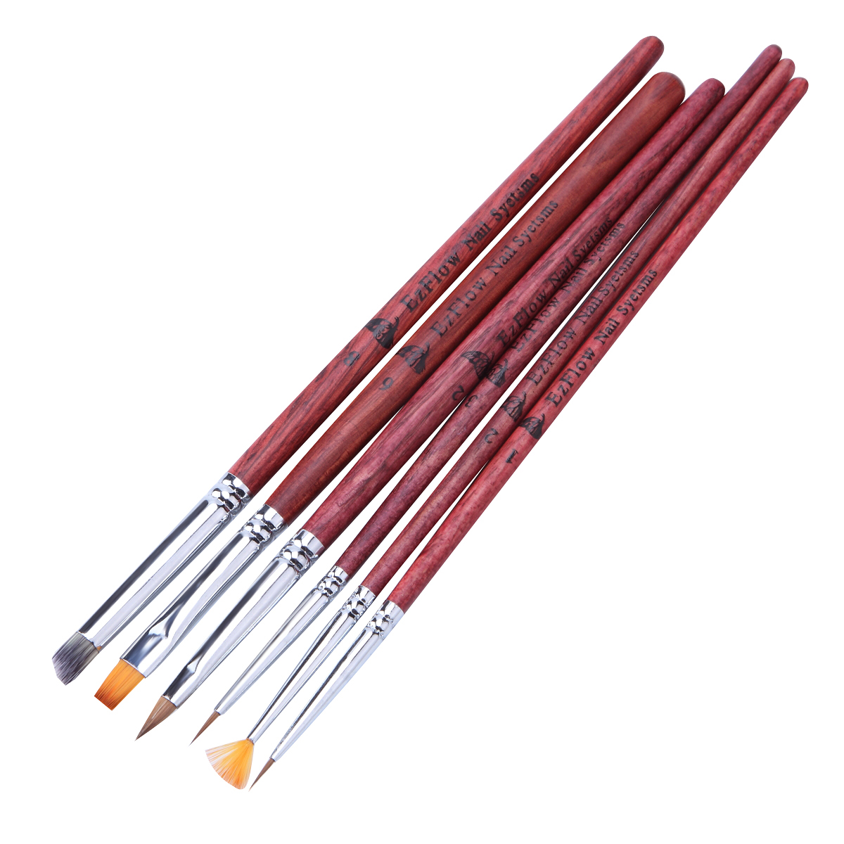Aliexpress 1pcs Nail Art Brush Red Wood Handle Diy Uv Gel Polish Painting Drawing Pull Lines Grant Fan Shaped Pen Manicure Decoration From