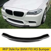 Customized Tuning Real Carbon Fiber Front Bumper Lip Chin Spoiler for BMW F10 M5 2011 2017