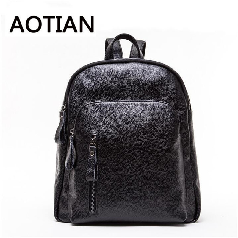 2017 New High Quality Fashion Women Backpack Students Backpack Women PU Leather Black Shoulder Bags Travel