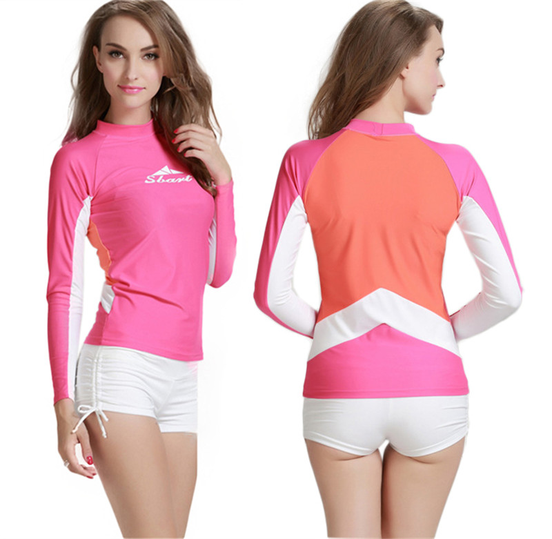 Our rash guards and rash vests are made with the best quick-dry, water repellant materials that will not weigh you down while you surf. At ROXY, we know that performance is key when it comes to all of our surf products and our rashguards and swim shirts for women are held to the highest standards and improved upon season after season.