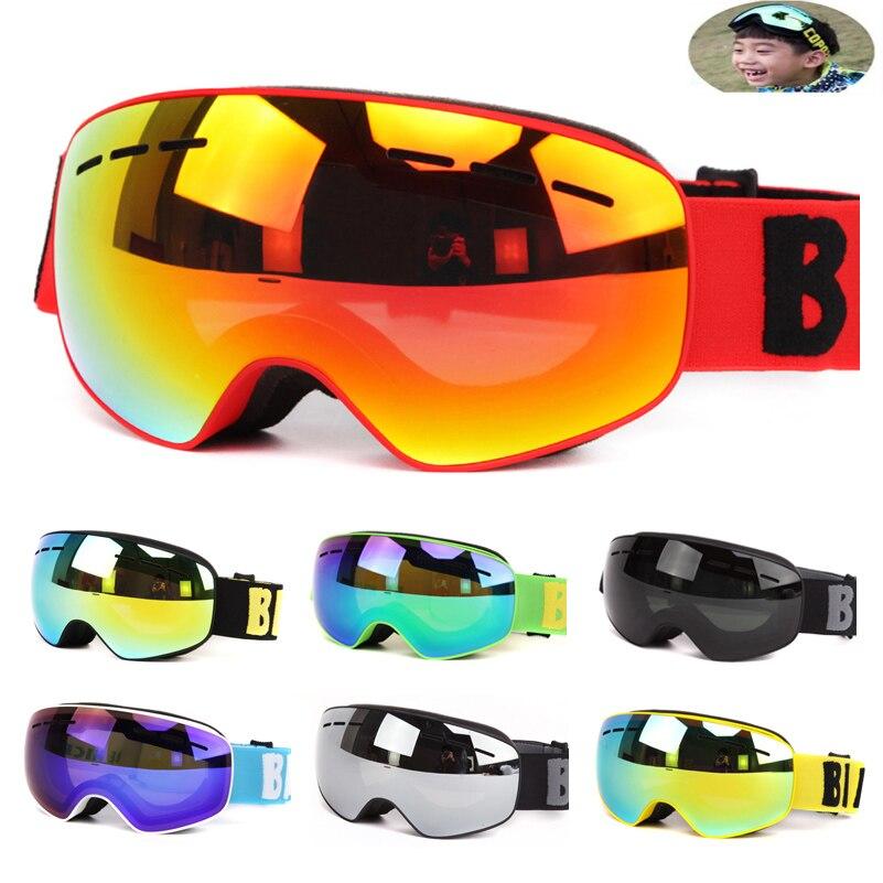 New Professional Boys Girls Snowboard Ski Goggles Eyewear Double Layers UV400 Anti-fog Skiing Mask Glasses For 4-15 Years Kids