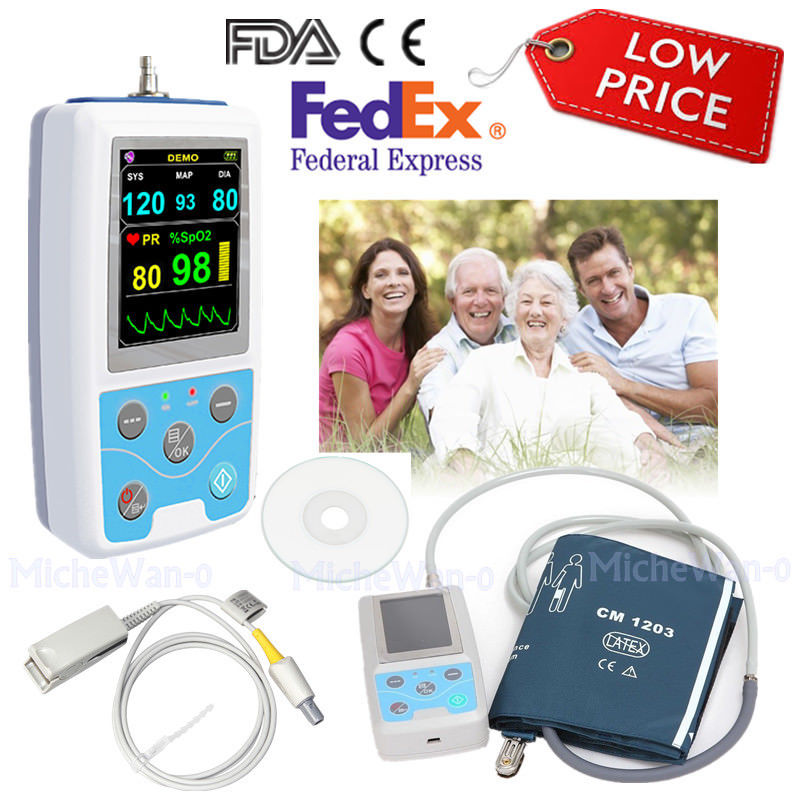 CONTEC PM50 Portable Blood Pressure NIBP/Spo2 Patient Monitor Signs  Pulse Rate Meter,USA CONTECCONTEC PM50 Portable Blood Pressure NIBP/Spo2 Patient Monitor Signs  Pulse Rate Meter,USA CONTEC