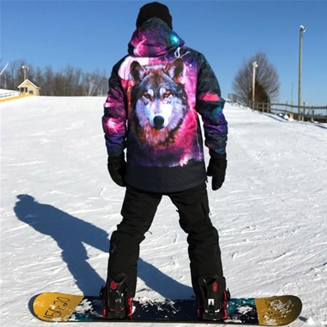 2017 Мужской зимний теплый горнолыжный и сноубордический костюм GSOU SNOW. горнолыжный костюм мужской. лыжный костюм мужской куртка, лыжи горные сноуборд лыжные штаны
