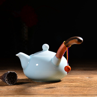 Jingdezhen Ceramic Teapot Side Handle Single Pot With Filter Creative Tie Rope Kung Fu Tea Set Tea Maker 25