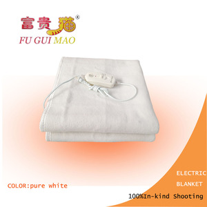 Image 2 - FUGUIMAO غطاء كهربائي أبيض نقي مانتا Electrica 150x70 سنتيمتر بطانية التدفئة الكهربائية للسرير 220 فولت بطانية صوف كهربية الجسم أدفأ