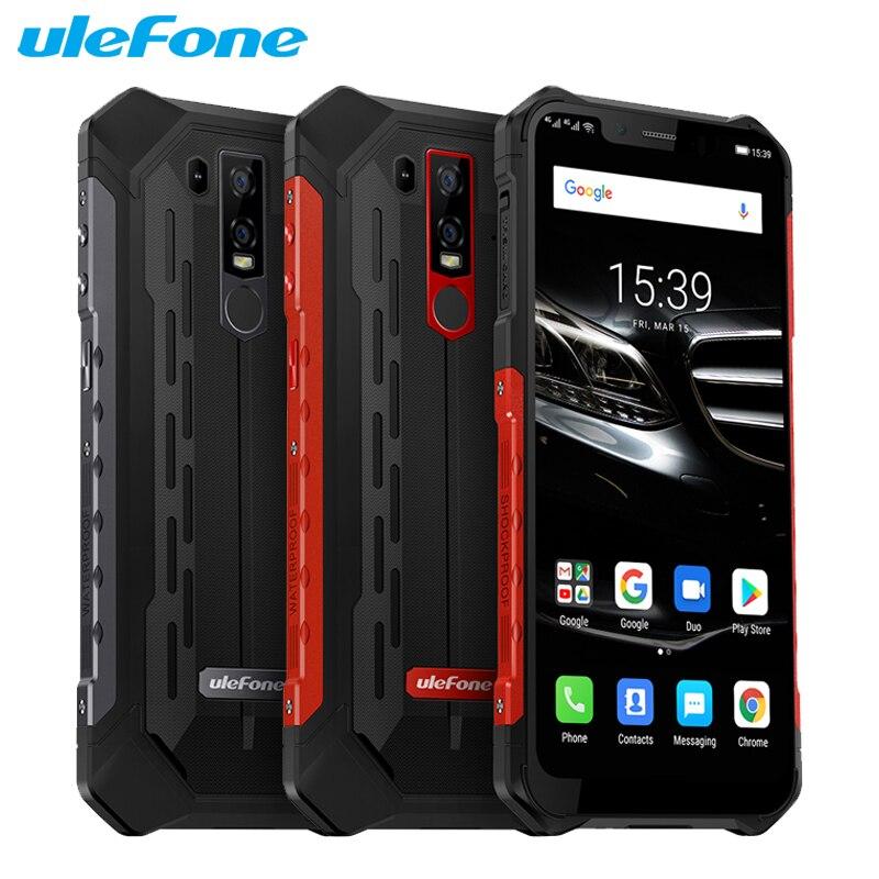 Téléphone portable Ulefone Armor 6E 6.2 pouces 4 go de RAM 64 go ROM Helio P70 Octa Core Android 9.0 Smartphone de charge sans fil double SIM