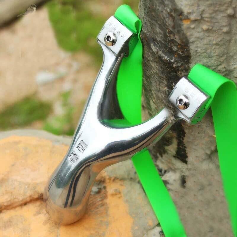 Popular Powerful Sling Shot Super strong pull Slingshot Bow Aluminum titanium alloy Catapult Outdoor Hunting