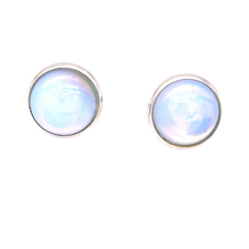 8 色天然石スタッド 12 ミリメートルステンレス鋼 Druzy ピンクグリーンクリスタルイヤリング金属耳のスタッドジュエリー女性男性ギフト