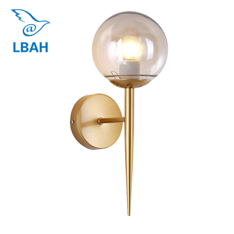 Nordic modern simple creative personality led bedroom bedside lamp living room corridor corridor magic bean ball wall lamp wall lamp bedside lamp bedroom aisle living room modern simple wall aluminum lamp led warm personality creative corridor chinese