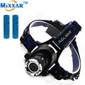 ZK40 Led Headlamp Cree XM-L T6 3800LM flashlight Head Light Adjustable Fishing Light Rechargeable torch  2*18650 5000mah Battery