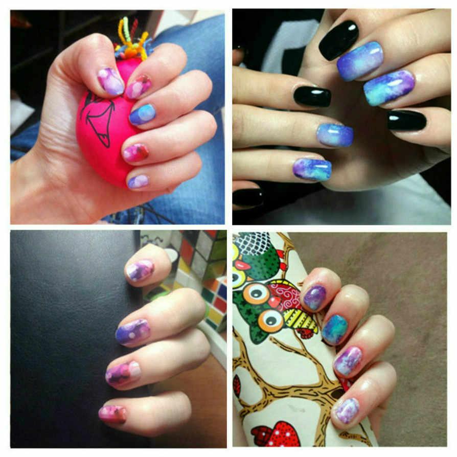 2019 caliente magia a agua de flor de uñas falsas consejos ventilador arte de uñas de la práctica de acrílico de Gel UV polaco manicura herramienta de TSM8