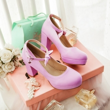 Hot sale!The new of 2015 fashion spring and autumn women's shoes sexy solid PU leather bowknot decoration high heels HXZ-167