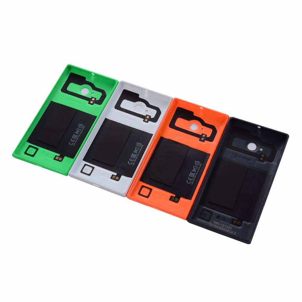 Original Housing Battery Door For Nokia Lumia 730 735 Back Battery Cover Case With NFC Wireless Charging