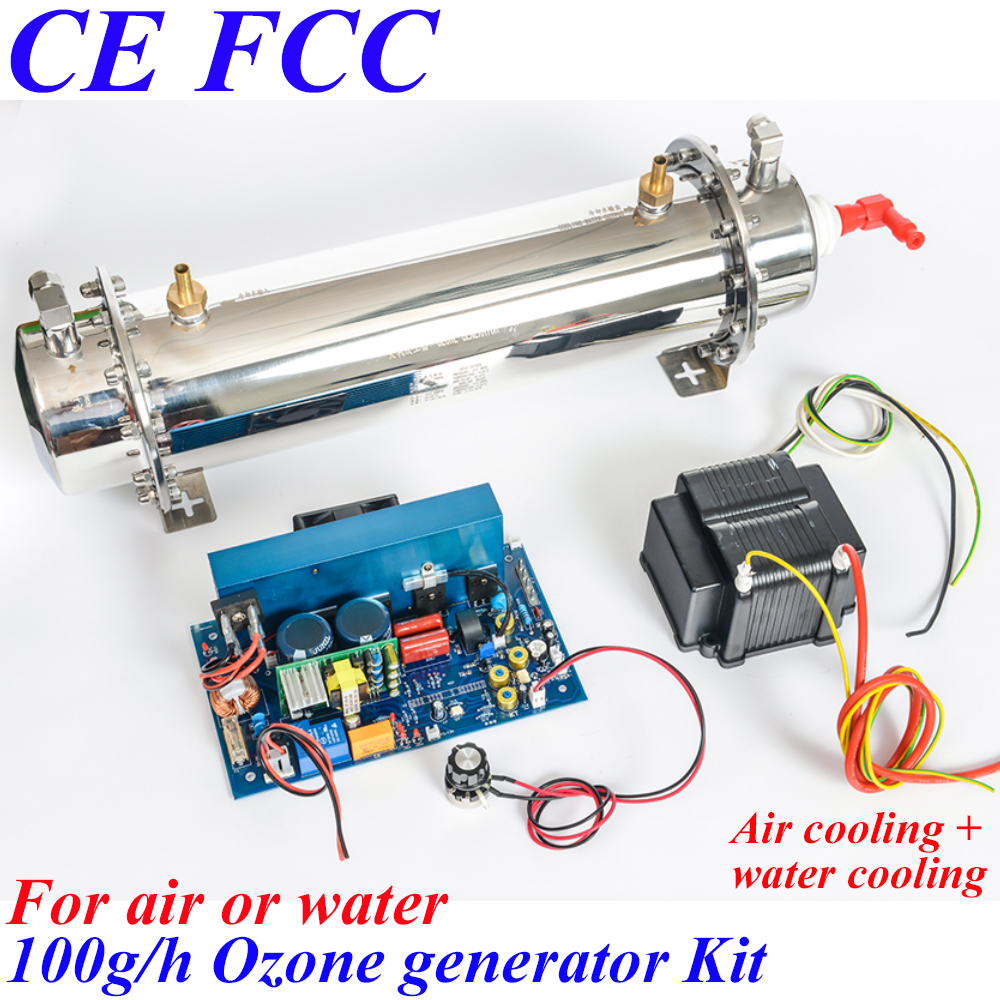 Pinuslongaeva CE EMC LVD FCC 100g/h Quartz tube type ozone generator Kit medical ozonator vegetable fruit sterilizer ozone ce emc lvd fcc ozone fruit and vegetable washer