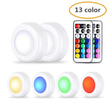 13 color LED cabinet lights RGB change hockey with remote control, touch sensor night light under