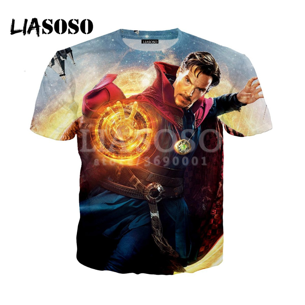 3eb2d6adeb1 Cheap LIASOSO 3D mujeres hombres Doctor extraño Benedict Cumberbatch,  camiseta de verano camiseta Hip Hop