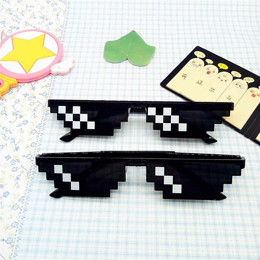 Thug Life Glasses 8 Bit Pixel Sunglasses Unisex Sunglasses Toy Meme Stuff  gag gift Drop Shipping