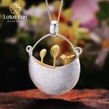 Lotus Plezier Echte 925 Sterling Zilveren Handgemaakte Fijne Sieraden My Little Tuin Ontwerp Hanger Zonder Ketting Voor Vrouwen Acessorios