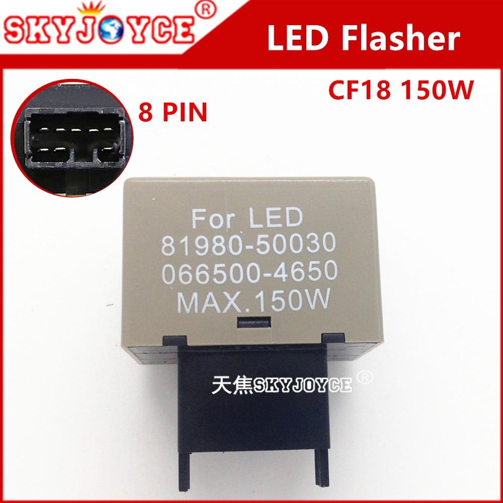 OEM 81980-50030 066500-4650 led flasher relay module controller  corolla avensis turn signals Electronic Flasher led 8-Pin 2pcs cf18 kt led flasher 8 pin adjustable relay module fix auto car signal error flashing blinker 81980 50030 06650 4650 150w
