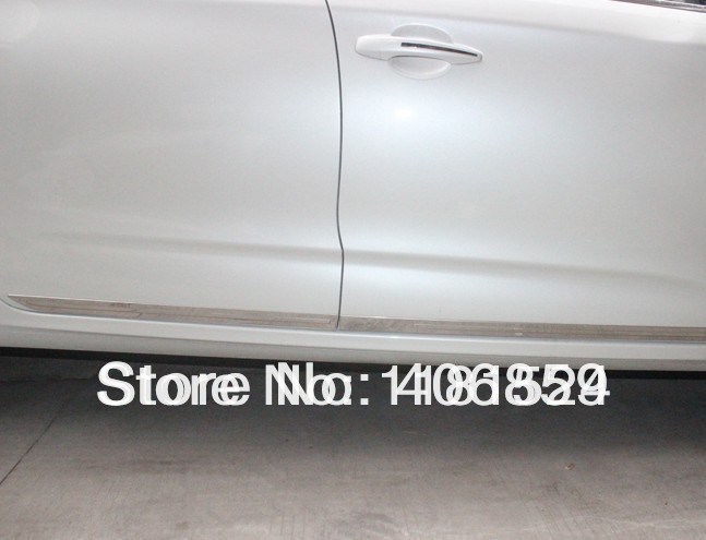 ФОТО High quality stainless steel body side moldings side door decoration For 2013-2015 Citroen C4 L/C4