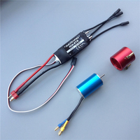 1SET RC Boat Power Kit 2S 3S Water Cooled Two Way 40A Brushless ESC+2440 Motor+Water Sleeve DIY Assembly