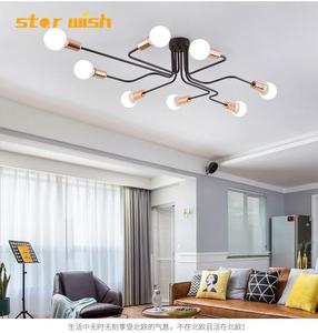 star wish modern iron pendant lights for bedroom Dining Room industrial village gold Hanging Lamp bar coffee shop Pendant lamp|Pendant Lights| |  -