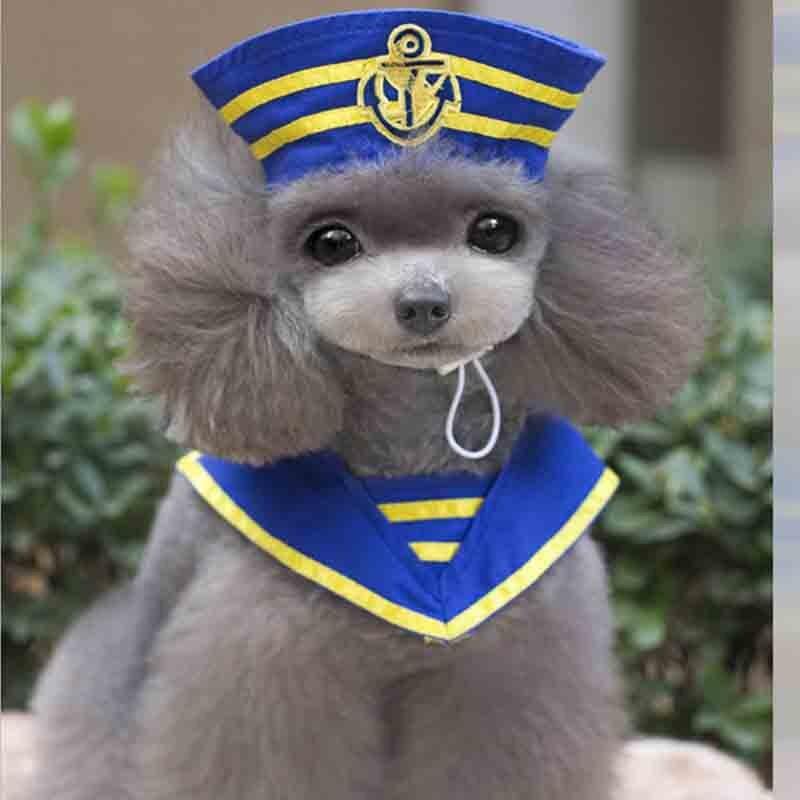 Funny Pet cat Kitten hat Cape scarf suit dog Sailor