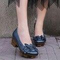 2017 Весна Обувь Новый Натуральная Кожа Мелкая Рот Цветок Ручной Работы Старинные Женская Обувь 608-35