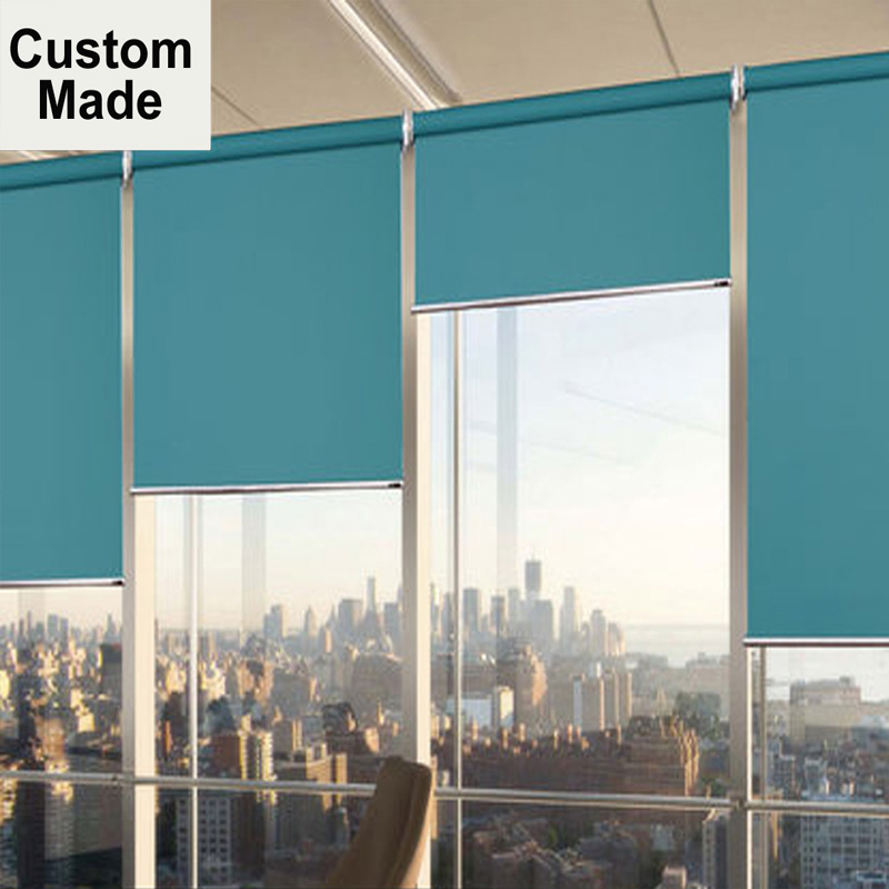 Window Roller Blinds Shades Curtains – MOMO Blackout Waterproof Shutters Zebra Blinds Made To Order For Kitchen Living Room