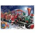 5D DIY бриллиантовый рисунок Рождество полная квадратная Стразы Алмазная мозаика Санта-Клаус поезд Алмазная вышивка распродажа мультфильмов