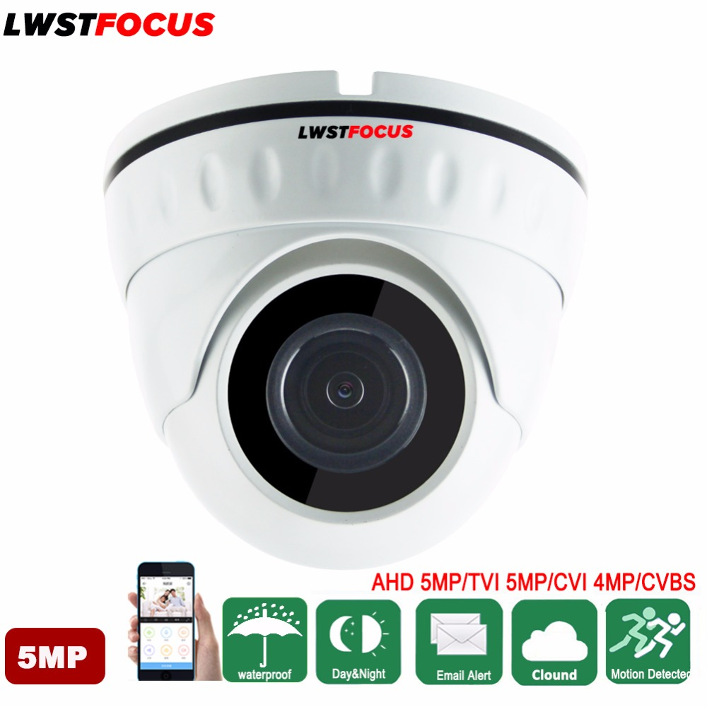 5MP AHD/ 5MP TVI/ 4MP CVI Vandalproof IR Dome Camera Surveillance Waterproof Outdoor Indoor Camera Night Vision IR Cut 3 5 inch ahd cvi tvi cvbs hd ptz camera middle speed dome camera 1 3mp 10x auto zoom outdoor security camera no night vision
