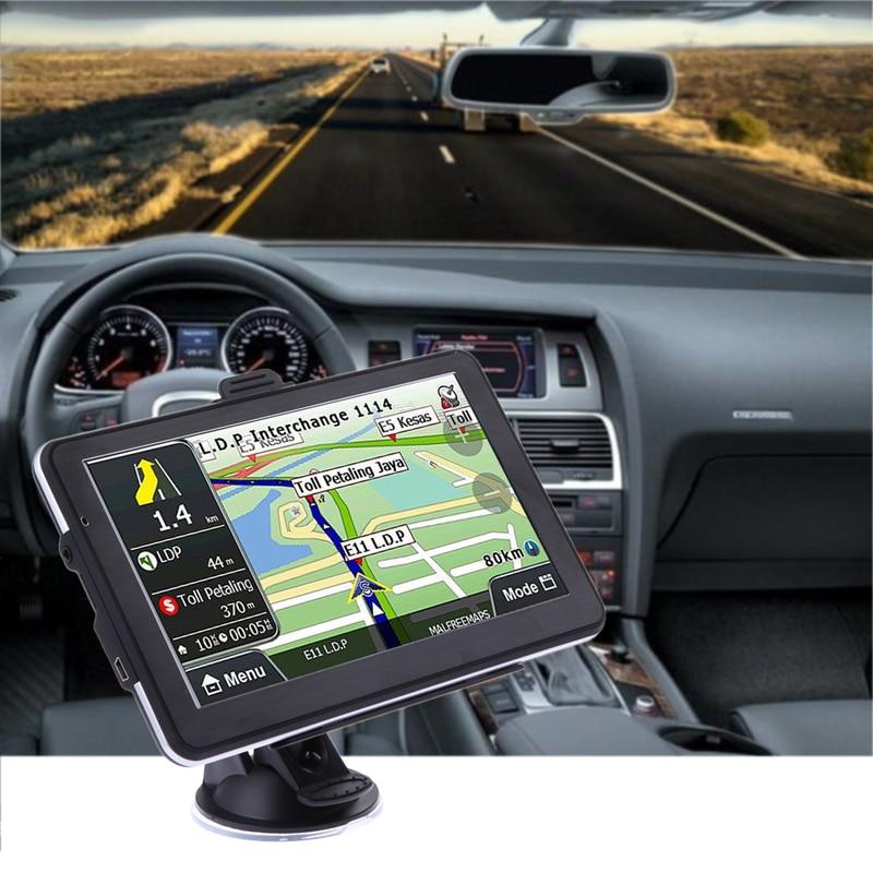 7 écran tactile Voiture Camion GPS Navigator 800 MHZ FM Transmetteur MP3/MP4 Lecteur Nord/Amérique Du Sud Europe 8 GO USB 2.0 TFT