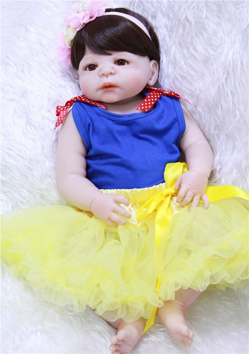 NPK 22 полное тело силиконовые Возрожденные куклы для малышей милая девочка bebes reborn bonecas для детские подарочные игрушки куклы реальные живые bonecas