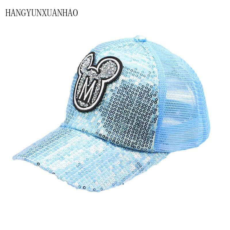 2019 New Children Hip Hop M LOGO Horn Baseball Cap Summer Adjustable Sun Hats Boys Girls snapback Caps Snapback 2 8 Years old in Men 39 s Baseball Caps from Apparel Accessories