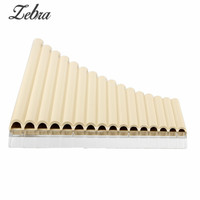 Zebra 16 Tube Eco friendly Resin C tone Pan Flute Easy Learning Woodwind Musical Instruments
