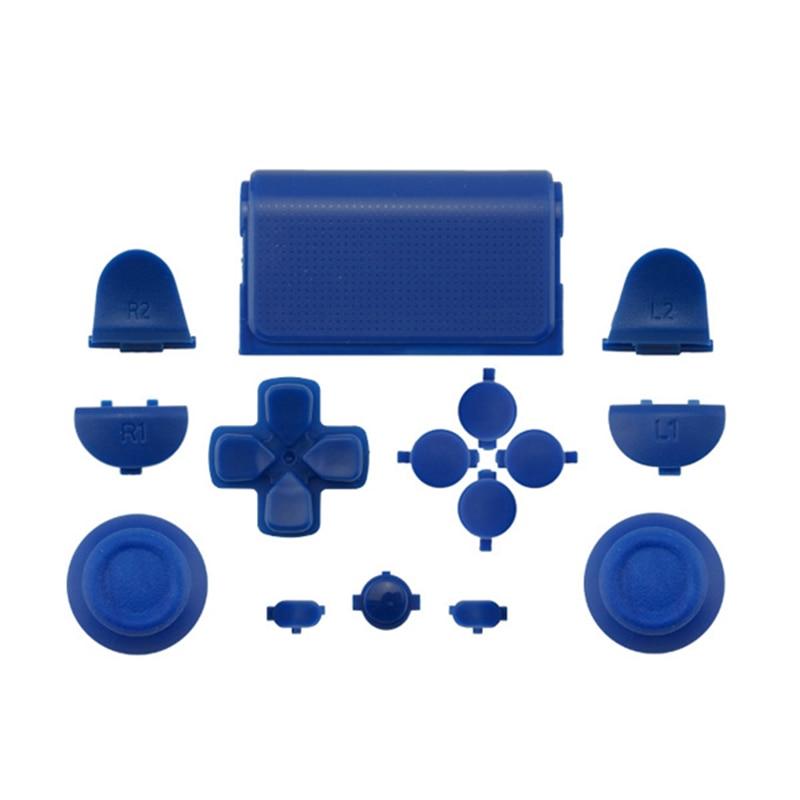 Melnās pilna komplekta rezerves daļu pogas PlayStation 4 PS4 - Spēles un aksesuāri - Foto 4