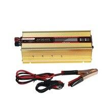 1000W lub 2000W falownik samochodowy wyświetlacz LCD 12V do 220V falownik 12v 220v adapter zasilania przenośna ładowarka usb